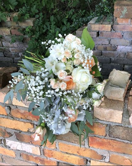 Roses and eucalyptus