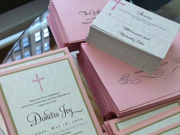 Tmx 1402107769014 Effiebaptism Bay Shore, New York wedding invitation