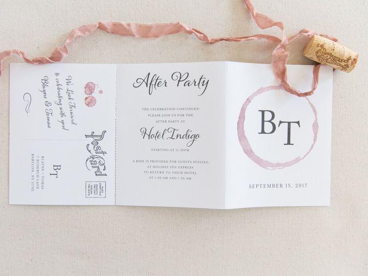 Tmx 1517589455 Cd9aed7ba17dc42b 1517589451 Cbb369d17efc8f95 1517589383117 39 57940DBC A348 41F Bay Shore, New York wedding invitation