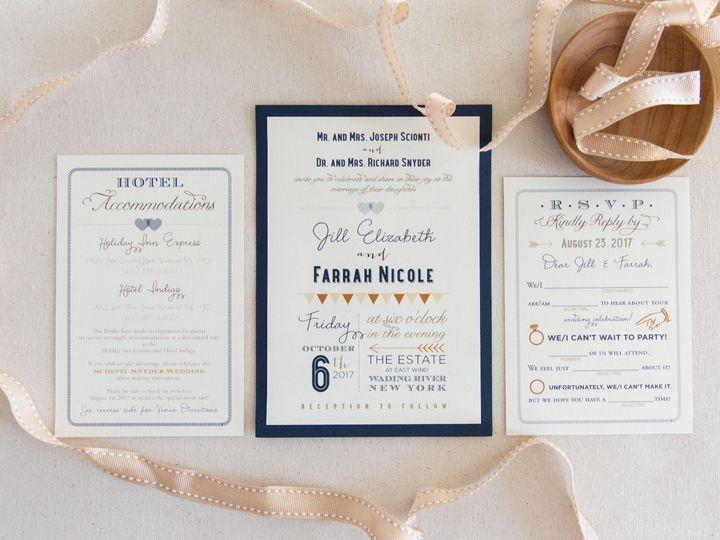 Tmx 1517776941 9f2ed12a3536c4d9 1517776940 Fbc2101fa215a140 1517776938911 5 Screen Shot 2018 0 Bay Shore, New York wedding invitation
