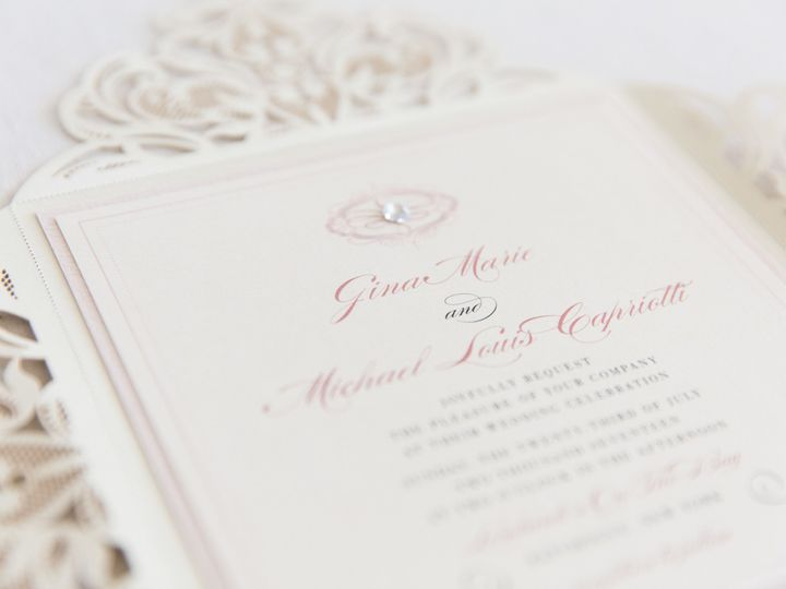 Tmx 1517776978 Bfb8f8fe03966e98 1517776975 96d932a16d8ae64d 1517776974197 7 Erinmcginn 089 Bay Shore, New York wedding invitation