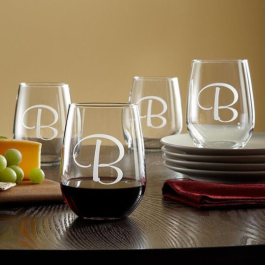 stemless wine glass images