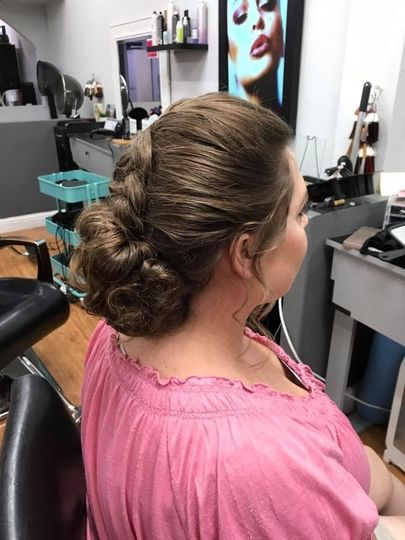 Big braid with bun