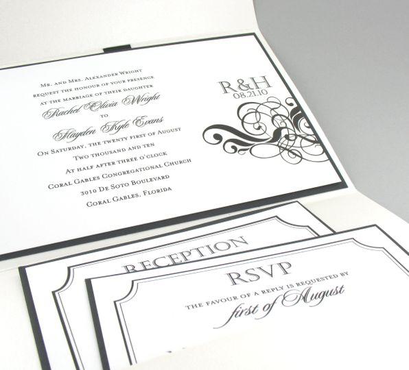 glamwedding invitation inside