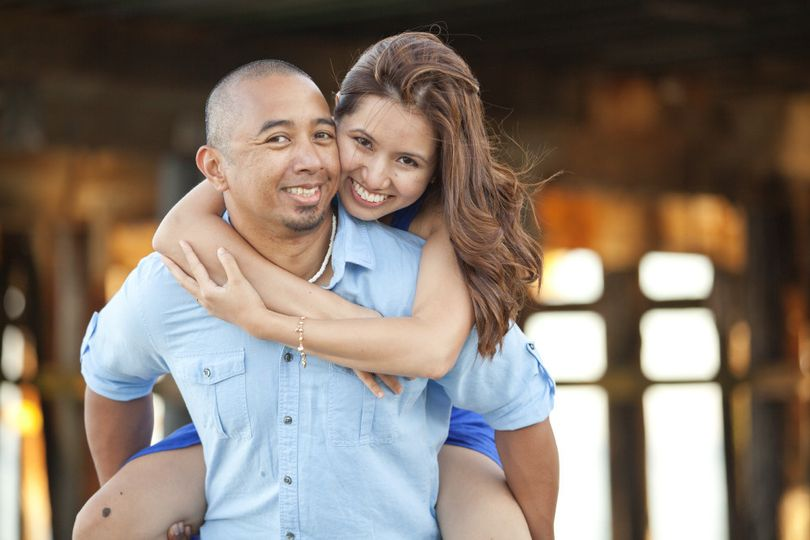 Santa Cruz beach engagement session under pier