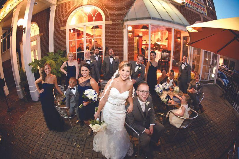 patio bridal party