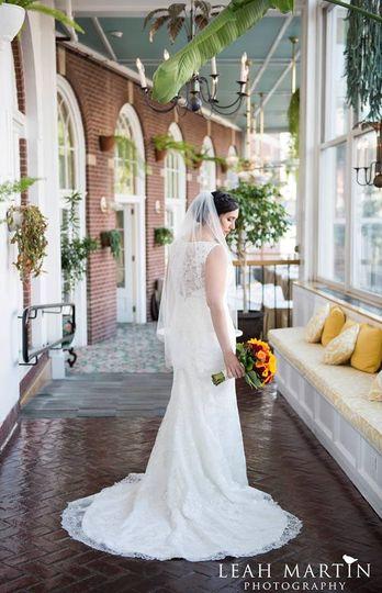 Bride in Atrium