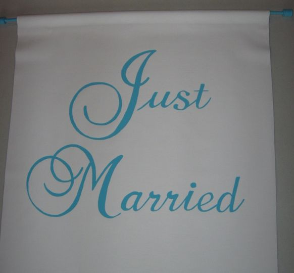 canvas/fabric sign for your wedding day