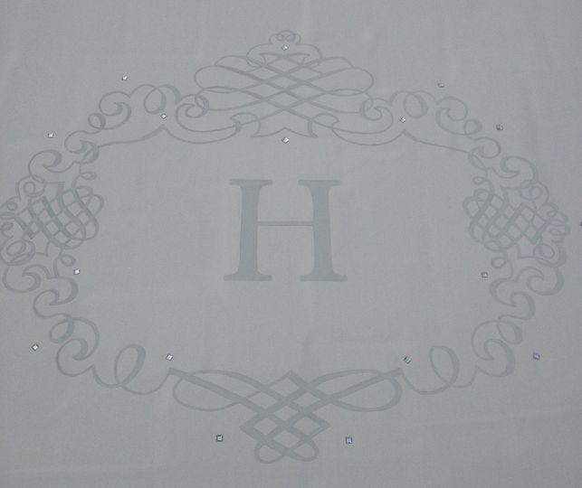 costom, platinum hand painted aisle runner