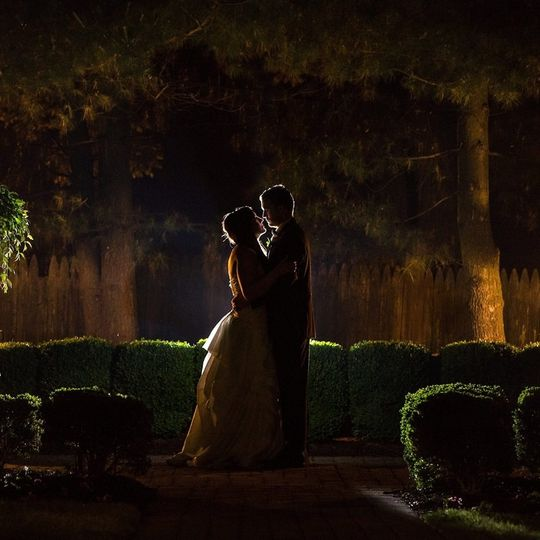 Silhouette of the newlyweds
