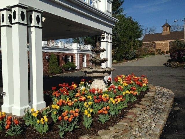 5 a front tulips with barn