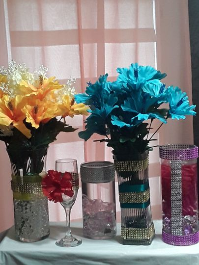 Centerpieces glassware
