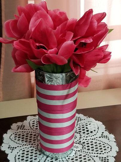 Pink centerpiece