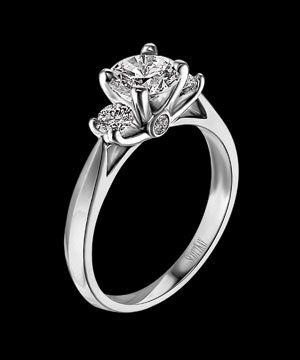 Scott Kay Palladium Engagement Ring