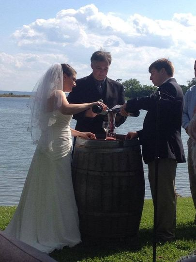 A wine ceremony is a special touch!