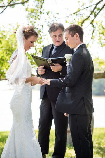Katie and Matt's wedding at Slack Winery in Ridge, Maryland.