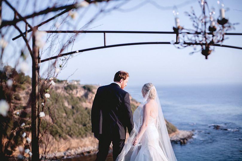 wedding on the bluff