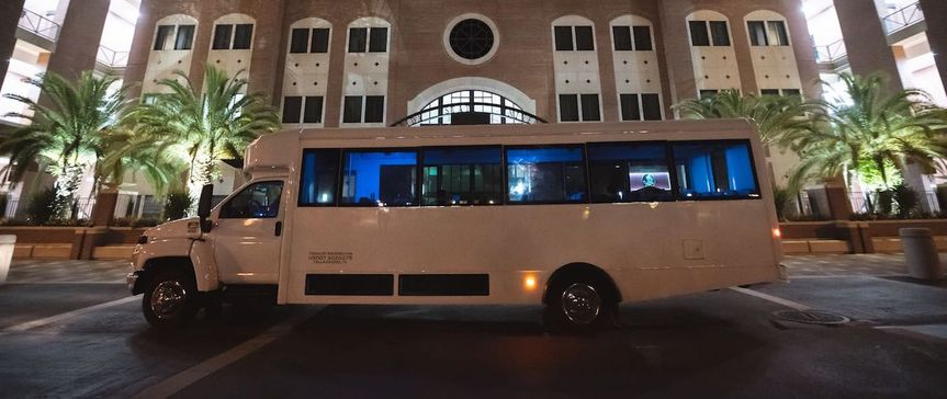 Wedding party bus for guests