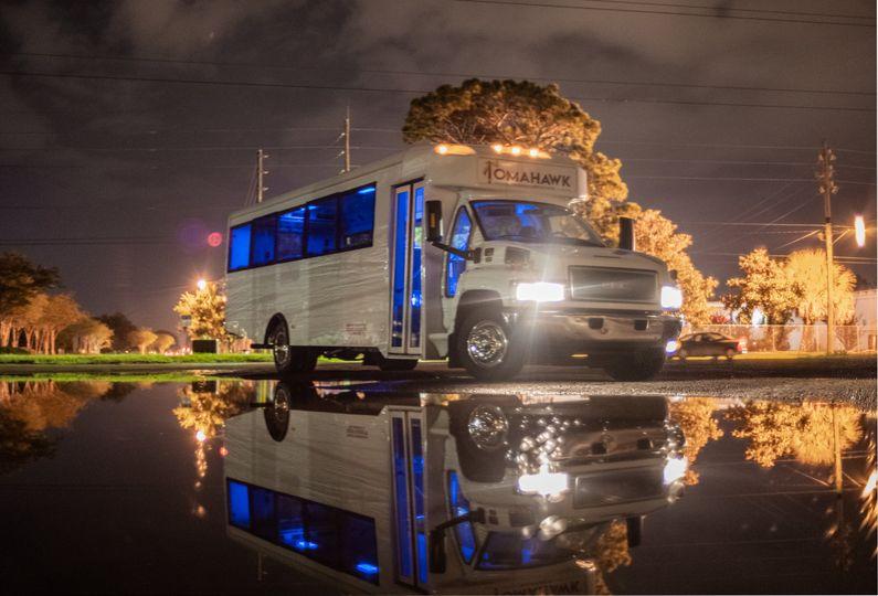 Luxury wedding bus service