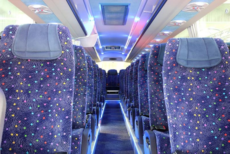 Premium wedding bus interior