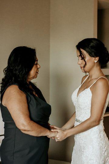 Bride & Mother praying