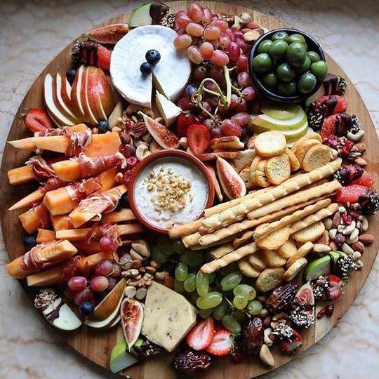 Fruit and dip board