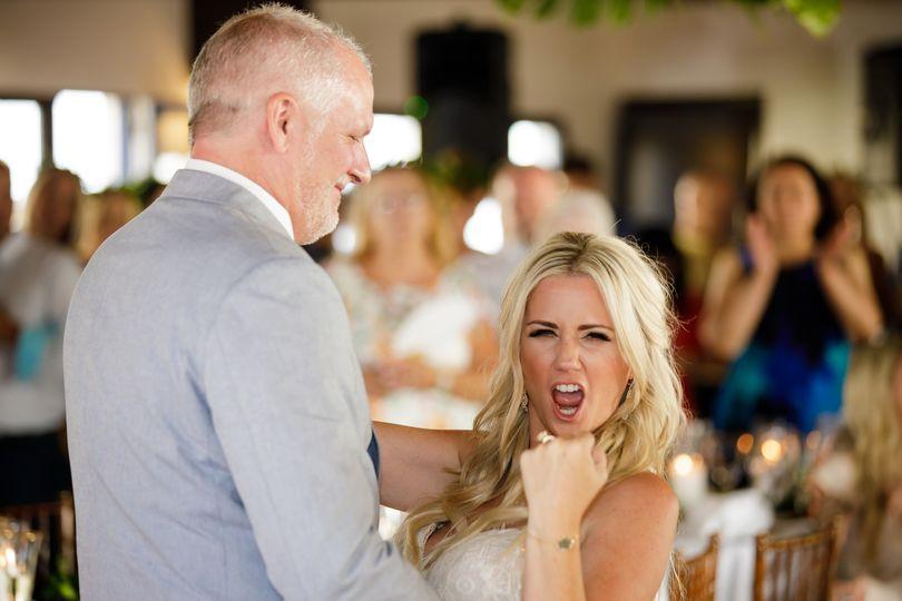 Stoked bride