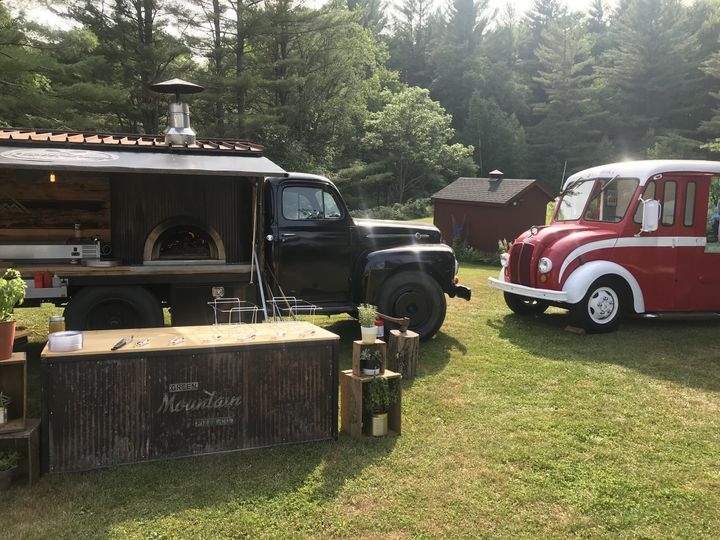 Wedding with the beer truck