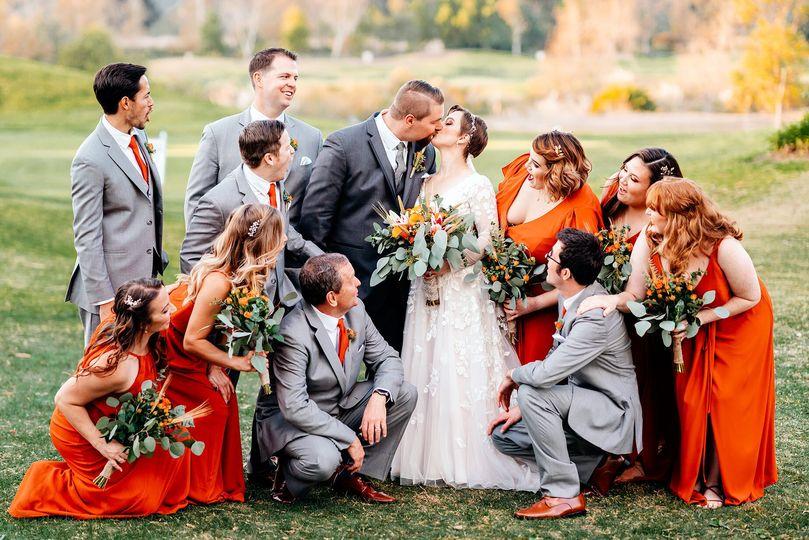 Fun Fall Time Bridal Party