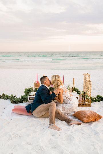 Beachside Wedding Picnic