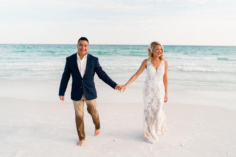 Bride and Groom Beach Photos