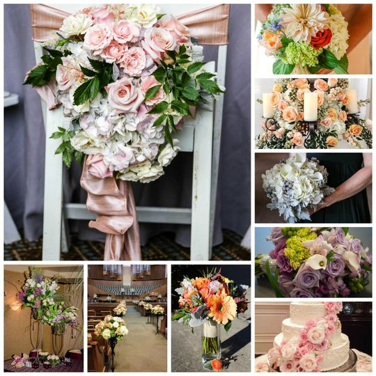 fg wedding collage