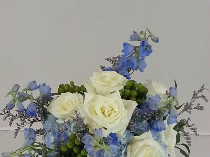 Tmx 1474912806473 Blue Delphinium And White Roses 92016 Bensalem wedding florist