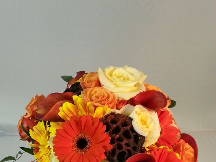 Tmx 1474912952839 Autumn Bouquet With Gerbera And Callas 92016 Bensalem wedding florist