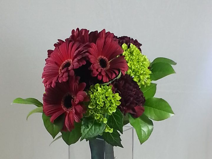 Tmx 1474913148902 Burgandy And Green Bouquet 92016 Bensalem wedding florist