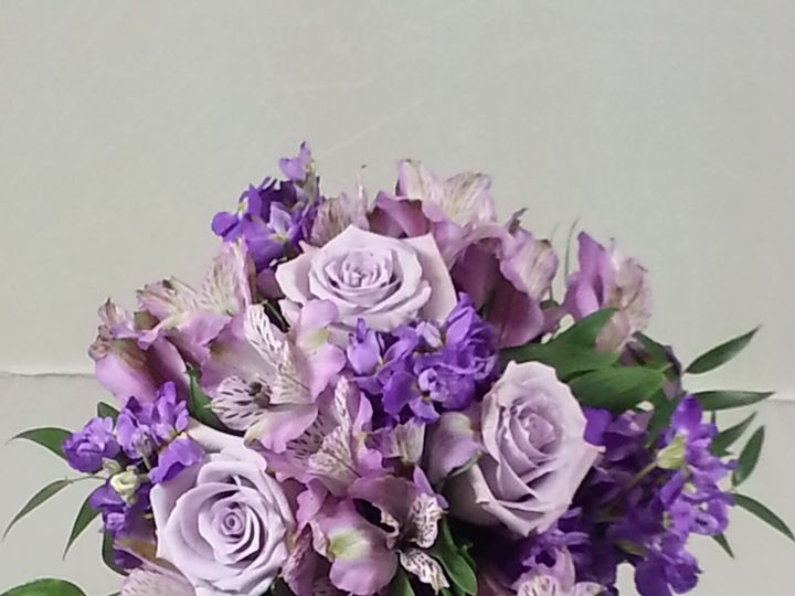 Tmx 1474913351002 Lavender Roses And Alstromaria Centerpiece 92016 Bensalem wedding florist