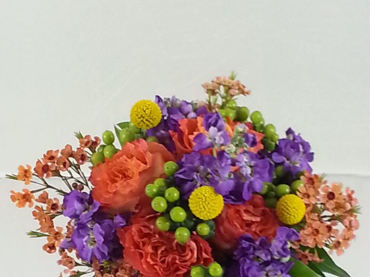 Tmx 1474913491644 Purple Stock And Peach Roses Bouquet 92016 Bensalem wedding florist