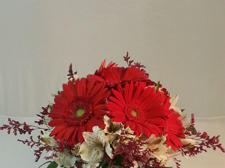 Tmx 1474913518795 Red Gerbera And White Alstromeria Bouquet 92016 Bensalem wedding florist