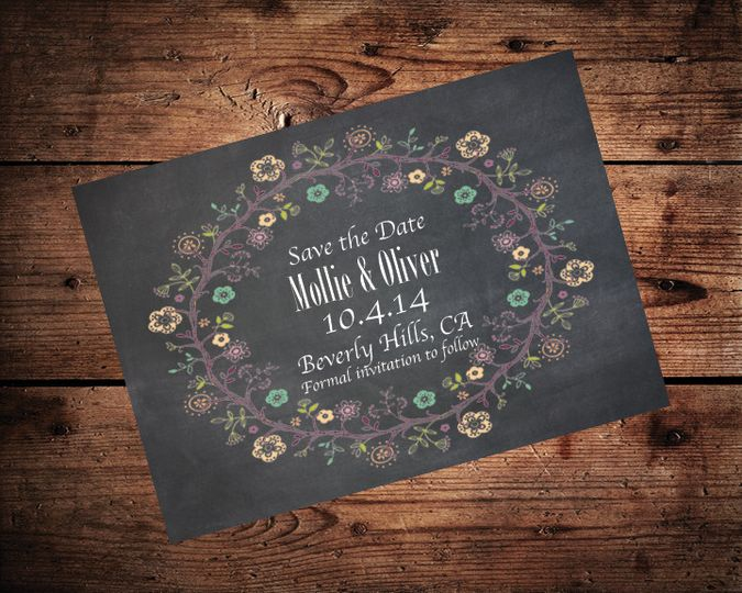chalkboard save the date3 on wood