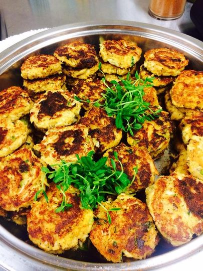 Jumbo Lump Crab and Local Corn Fritters with Jalapeno Ginger Dipping Sauce