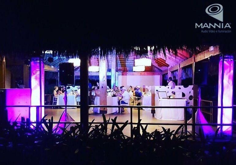 ARRECIFE TERRACE GRAND PALLADIUM DJ SET UP