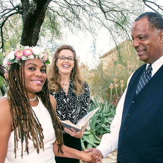 Desert Botanical Gardens Elopment Phoenix Wedding Minister Reverend Amy Miller