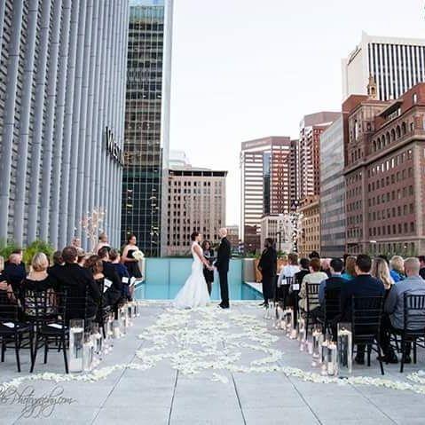 Rooftop Wedding Phoenix Arizona Phoenix Wedding Minister