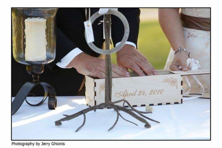 Love letter in Wine Box Ceremony,  performed by Phoenix Wedding Minister Reverend Amy Miller