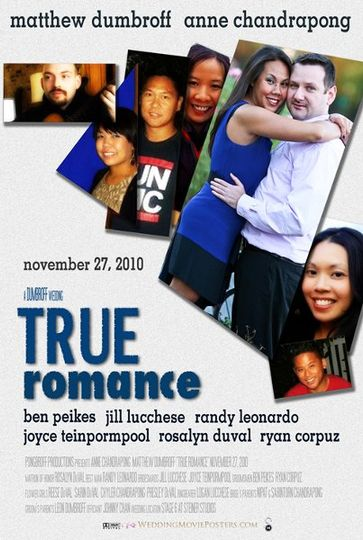 """Wedding Movie Poster for a client in the theme of the movie """"True Romance""""."""
