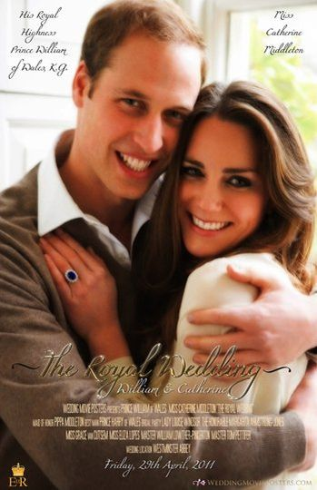 Royal Wedding Movie Poster for William and Catherine