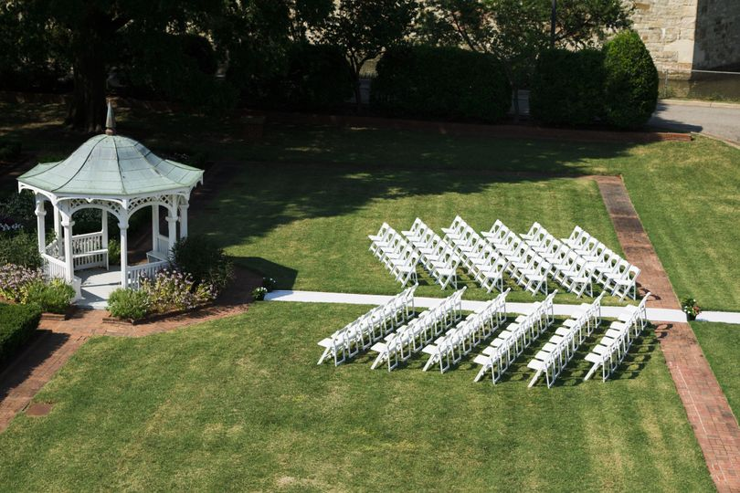 Have your ceremony in our Garden behind the Residence.