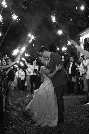 Sparkler kiss - Melissa Diane Photography, LLC