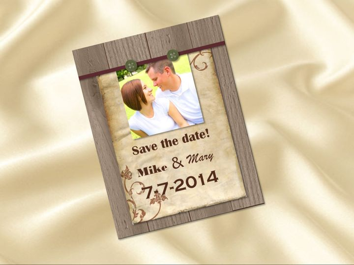 save the date wood