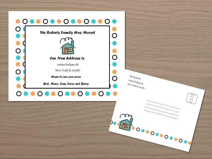 Tmx 1461347298173 New Address Cards Front Carol Stream wedding invitation